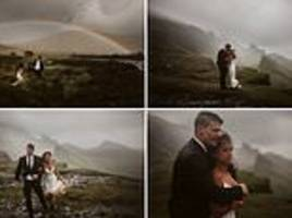 Chicago couple eloped 3,500 miles to pose in rain and mud for VERY dramatic photos on Isle of Skye