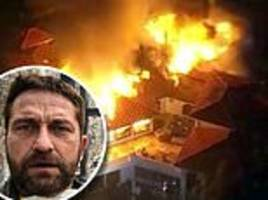 gerard butler, miley cyrus and robin thicke  lose their homes as celebrities flee california fires