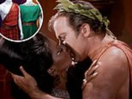 star trek toga worn by william shatner in interracial kiss scene goes up for auction