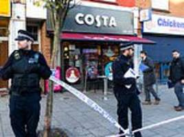 london stabbing at a costa coffee leaves man fighting for his life