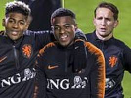 koeman oversees training as holland prepare to face france… and a win would relegate germany!