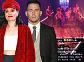 jessie j 'confirms romance with channing tatum' by congratulating him