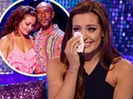 strictly's amy dowden in tears during it takes two appearance as danny john jules refuses to appear
