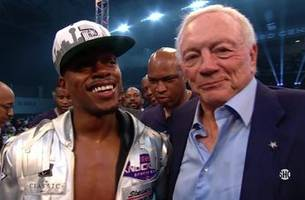 watch erroll spence jr.'s first round ko (and celebration with jerry jones) as pbc comes to fox and fs1