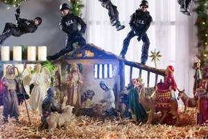 'full frontal': i.c.e. agents raid the nativity scene in samantha bee's holiday special (video)