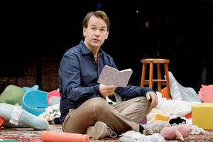 'the new one' broadway review: mike birbiglia now sleepwalks with a stroller