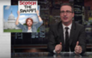 video: john oliver evaluates trump's campaign promise to 'drain the swamp'