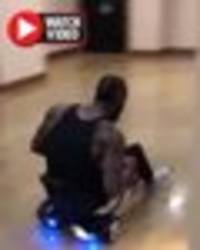 Boxing fans concerned for Deontay Wilder as he CRASHES homemade go-kart