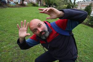 exeter bus driver who was once attacked by an owl to appear on harry hill comedy show