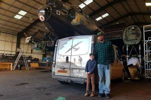 dad uses finger to turn dirty van into spectacular remembrance day mural