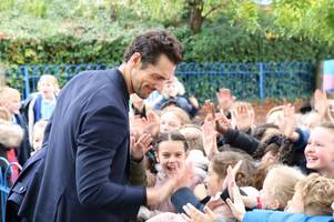 supermodel and entrepreneur david gandy returns to his old schools in billericay to help inspire students