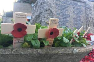 'stop the war' cries break two-minute silence at weston war memorial on remembrance sunday