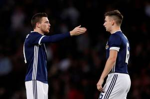 will kieran tierney and andrew robertson be shoehorned into the same scotland side? monday jury