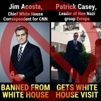misleading meme pits acosta against 'neo nazi'