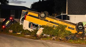 'we were very lucky' - northern ireland crash bus driver says seat belts saved lives of children on board