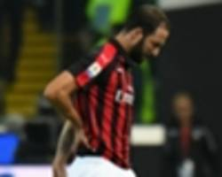 Higuain handed two-match ban for Juventus meltdown