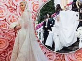 inside the very lavish wedding of oil tycoon and his chechen bride