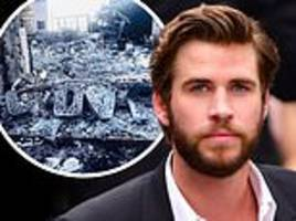 Liam Hemsworth shares photo of his obliterated Malibu mansion