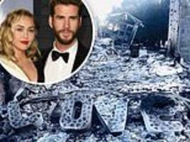 miley cyrus' fiancé liam hemsworth shares heartbreaking photo of scorched 'love'