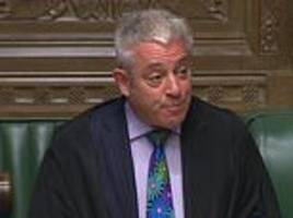 john bercow admits he has 'bullied' mps by mimicking their accents