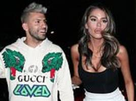sergio aguero makes most of international break with mystery woman in la trip