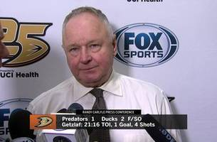Ducks head coach Randy Carlyle happy with shootout win, but sees room for improvement