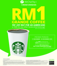 WeChat Pay MY is available at Starbucks with exclusive offers