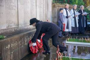 remembrance day in mole valley: photos from services on 100th anniversary of ww1 armistice