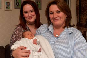 gran delivers her own granddaughter on remembrance day, and parents name her poppy-mae