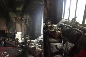 Mum and five children left homeless and with nothing after devastating fire