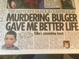 james bulger: tabloids bring up the body to attack robert thompson and stir blair's mob