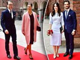 Crown Princess Victoria and Sofia attend lunch for Italian President