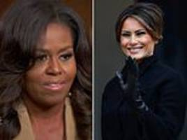 melania trump asserts that she is a 'strong and independent woman' in dismissal of michelle obama
