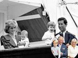 nod to princess diana in photo montage celebrating prince charles' 70th birthday
