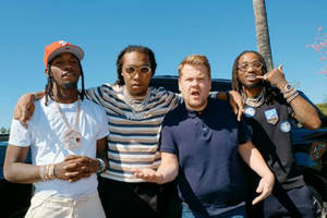 migos 'carpool karaoke': james corden apologizes to rap group for personally ruining the dab (video)