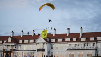 second man reported over trump paraglider protest at turnberry
