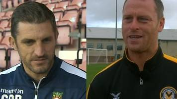 fa cup: wrexham and newport managers' react to all-welsh tie