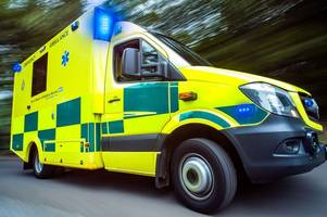 biker rushed to hospital after crash with car closed a30 near hayle