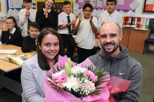 rutherglen teenager who helps youngsters with additional support needs is honoured in our say it with flowers contest