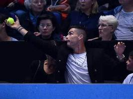 Watch: Cristiano Ronaldo Tries To Catch A Tennis Ball During ATP Finals