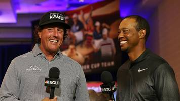phil mickelson once sat next to tony romo just to anger tiger