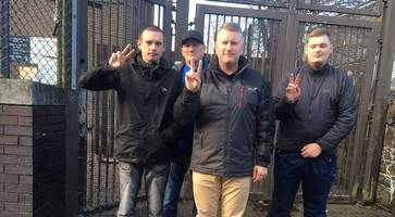 britain first's paul golding in antrim court charged with stirring up hatred