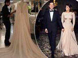 princess eugenie's evening dress also showed off scoliosis scar