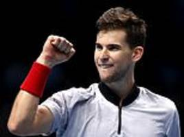dominic thiem keeps atp finals hopes alive with victory over kei nishikori