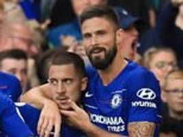 olivier giroud reveals his first thought after training with chelsea team-mate eden hazard