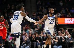wolves beat pelicans as covington, saric make debuts
