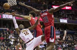 bradley beal scores 20 points, wizards rout cavaliers 119-95