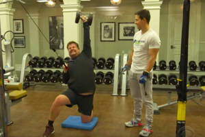 james corden joins mark wahlberg for his 'ridiculous' 4 am workout (video)