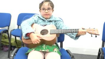children in need: music helps children with down's syndrome