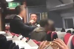 man filmed screaming racist abuse at couple on gwr london paddington train between bath and bristol temple meads